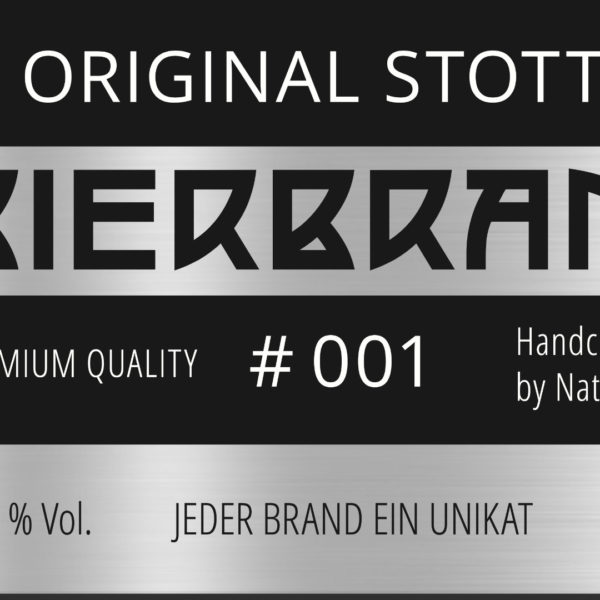 Original Stott's BIERBRAND NR. 001