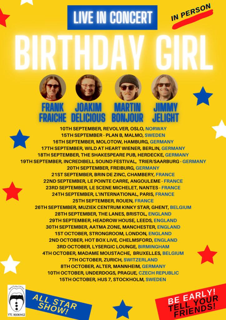 Birthday Girl - European Tour 2021 Poster